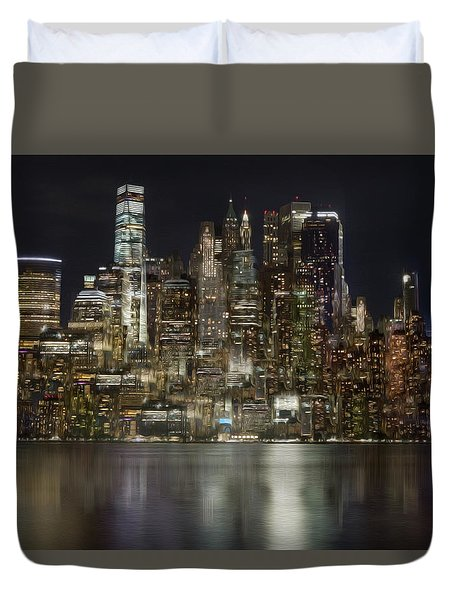 Painted Lights Duvet Cover