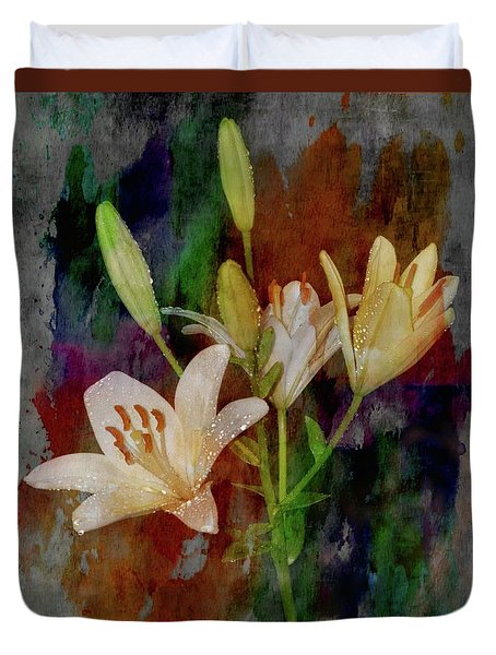 Painted Lilies Duvet Cover