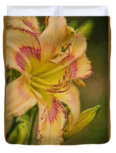 Painted Lilly Duvet Cover