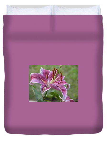 Painted Lily Duvet Cover by Jewels Blake Hamrick