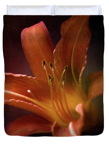 Painted Lily Duvet Cover