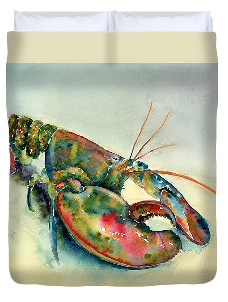 Painted Lobster Duvet Cover