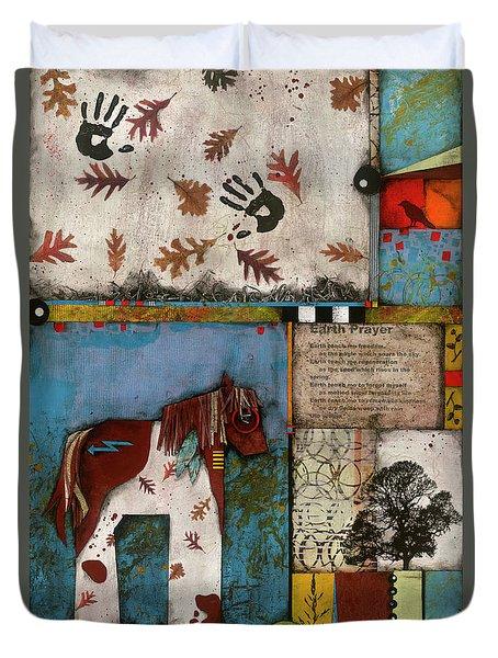 Painted Mare, Oak, War Pony  Duvet Cover