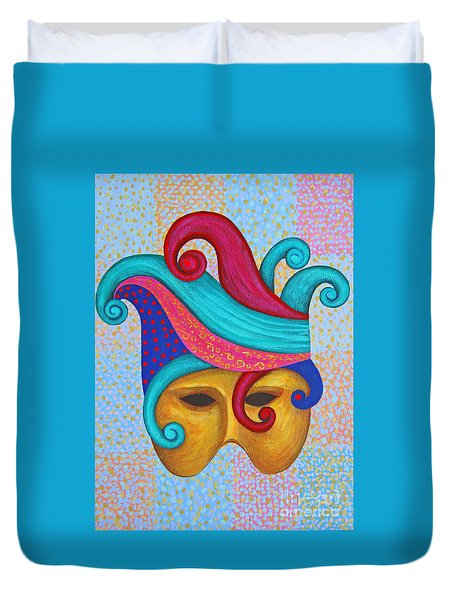 Painted Mask Duvet Cover by Nareeta Martin