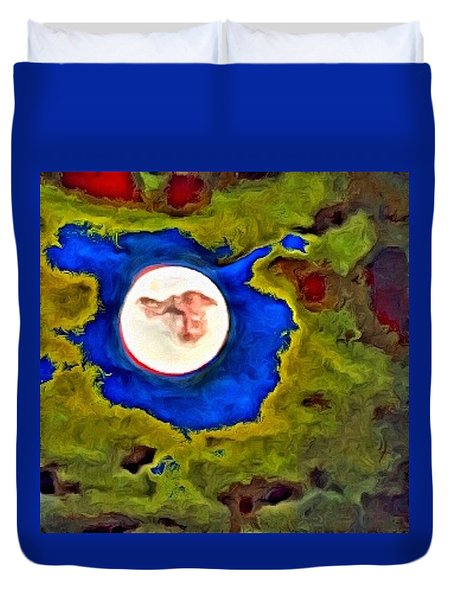 Painted Moon Duvet Cover
