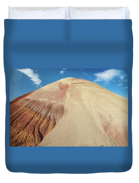 Duvet Cover featuring the photograph Painted Mound by Greg Nyquist