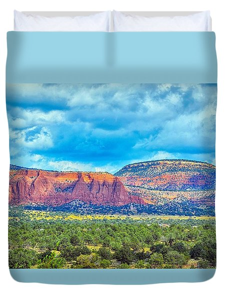 Painted New Mexico Duvet Cover