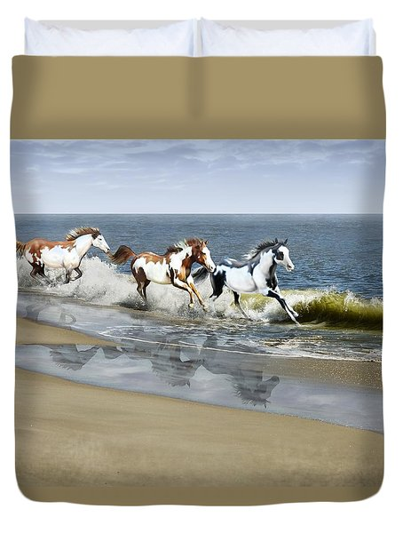 Painted Ocean Duvet Cover by Barbara Hymer