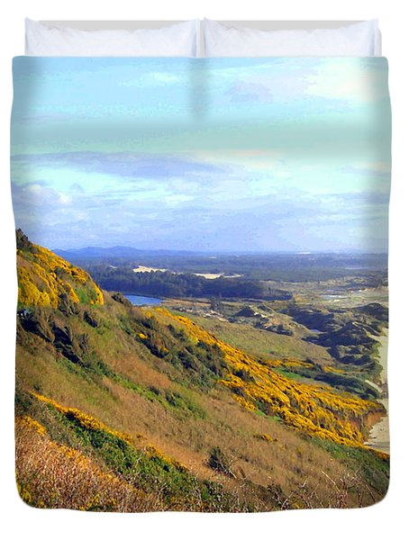 Painted Oregon Coast Duvet Cover