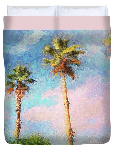 Painted Palms Duvet Cover