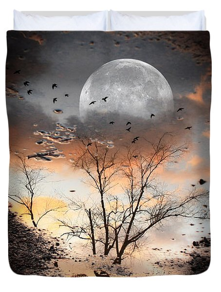 Painted Puddle Duvet Cover by Gray  Artus