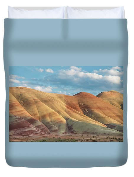 Painted Ridge And Sky Duvet Cover by Greg Nyquist