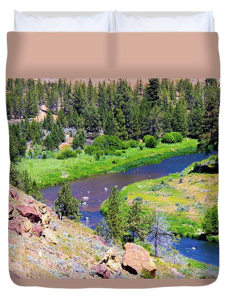 Duvet Cover featuring the photograph Painted River by Jonny D