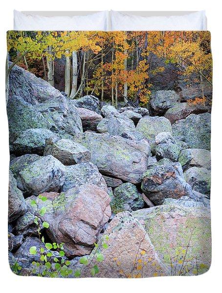 Painted Rocks Duvet Cover