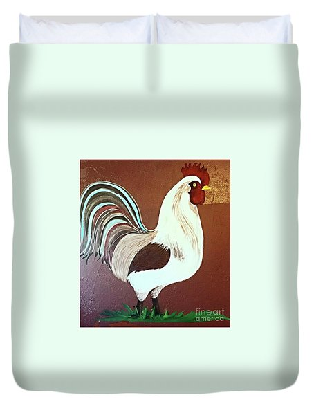 Painted Rooster Duvet Cover