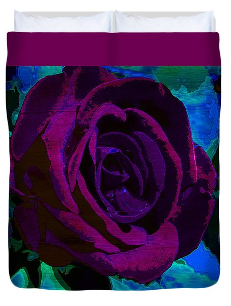 Painted Rose Duvet Cover by Samantha Thome
