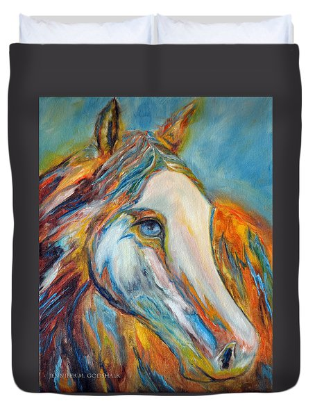Painted Horse Sensation Duvet Cover
