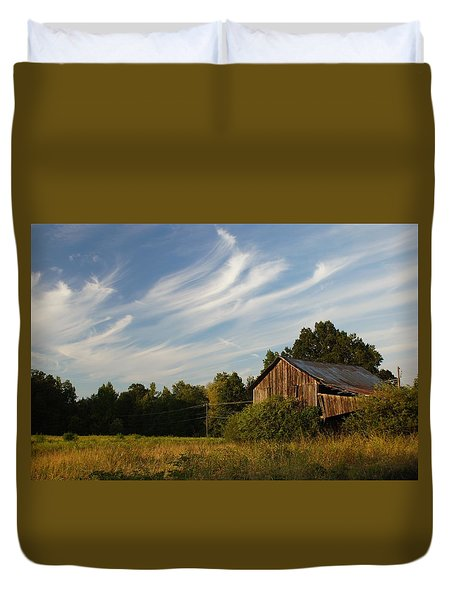 Painted Sky Barn Duvet Cover