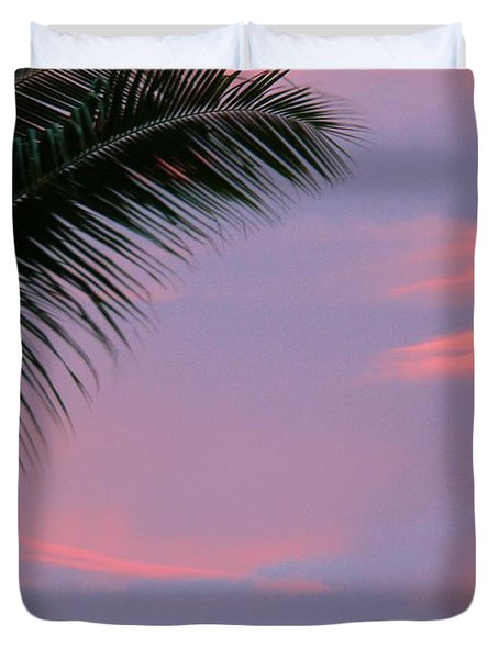 Duvet Cover featuring the photograph Painted Sky by Debbie Karnes