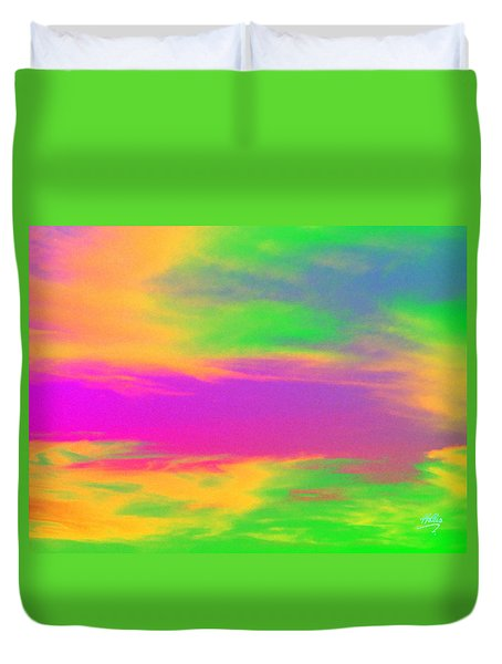 Painted Sky Duvet Cover by Linda Hollis
