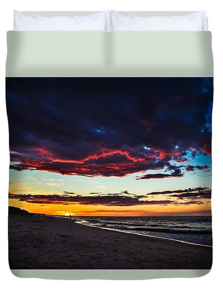 Painted Sky Duvet Cover by Peter Scott