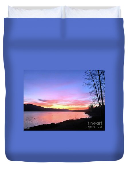 Painted Sky Duvet Cover by Victor K
