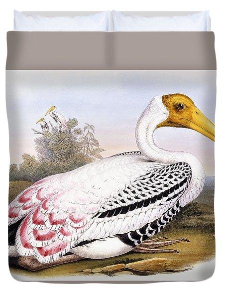 Painted Stork Duvet Cover by John Gould
