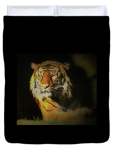 Painted Tiger Duvet Cover