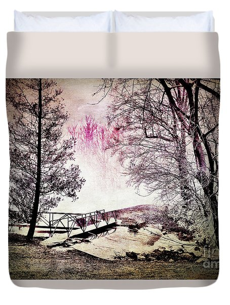 Painted Trees Duvet Cover by Judy Wolinsky
