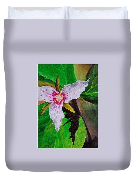 Painted Trillium Duvet Cover