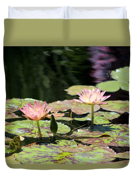 Painted Waters - Lilypond Duvet Cover