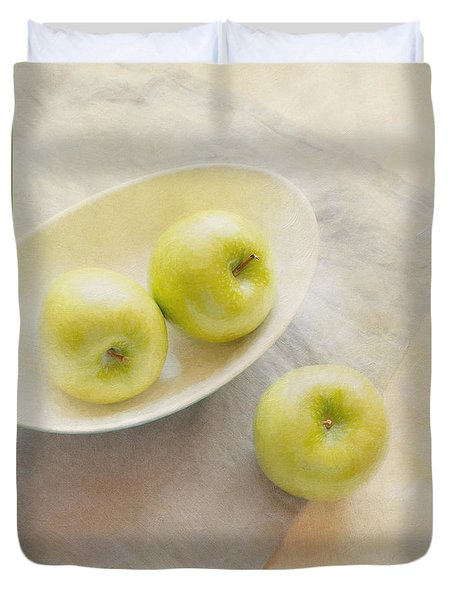 Painterly Apples Duvet Cover