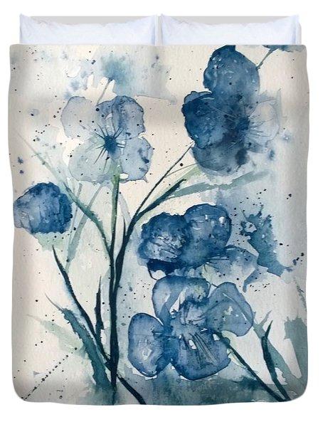 Painterly  Blues Duvet Cover