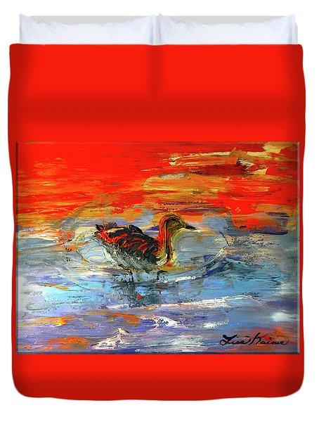Painterly Escape II Duvet Cover