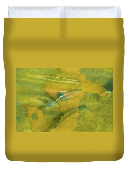 Duvet Cover featuring the photograph Painterly Fish by Carolyn Dalessandro