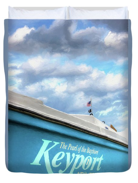 Duvet Cover featuring the photograph Painterly Keyport Sailboat by Gary Slawsky