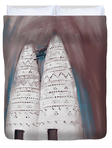 Painting 676 2 Traditional Pigeon Houses Duvet Cover