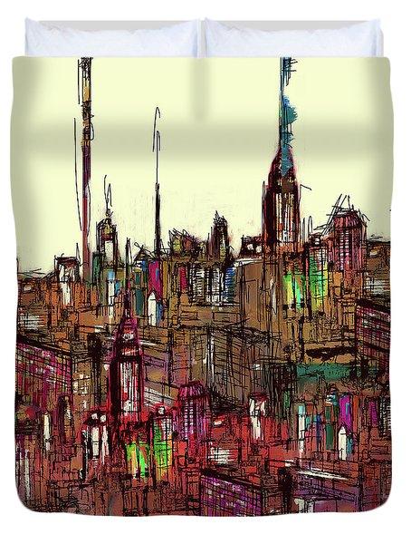 Painting 775 1 New York Skyline Duvet Cover