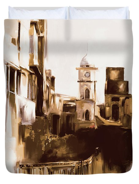 Painting 790 4 Cunningham Clock Tower Duvet Cover