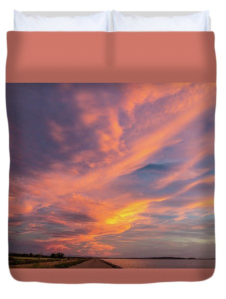 Painting By Sun Duvet Cover