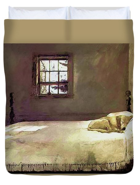 Painting Of The Print, Master Bedroom Duvet Cover