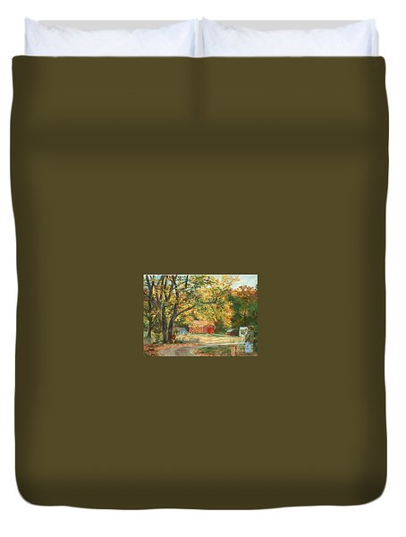 Painting The Fall Colors Duvet Cover