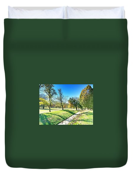 Painting With Shadows - Park Day Duvet Cover