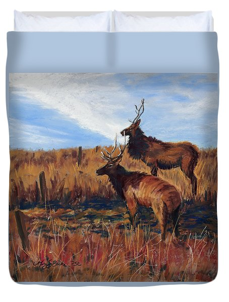 Pair O' Bulls Duvet Cover