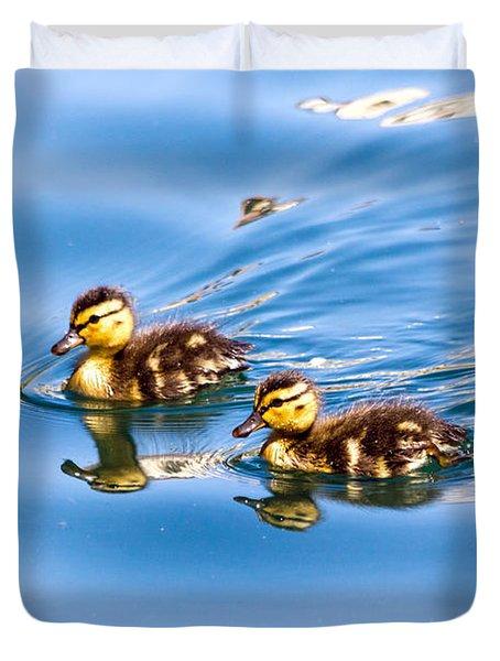 Duckling Duo Duvet Cover