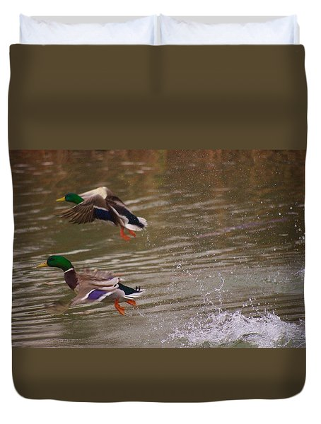 Pair Of Ducks Duvet Cover