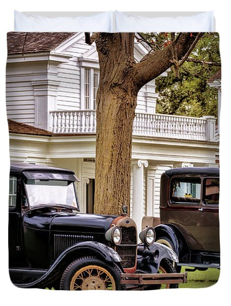 Pair Of Ford Model A  Duvet Cover