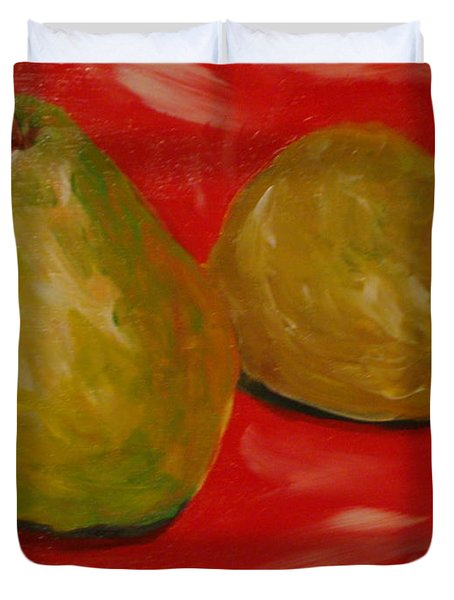 Pair Of Pears Duvet Cover