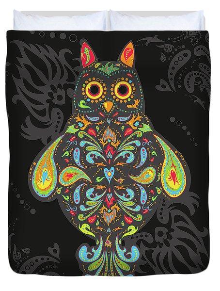 Paisley Owl Duvet Cover