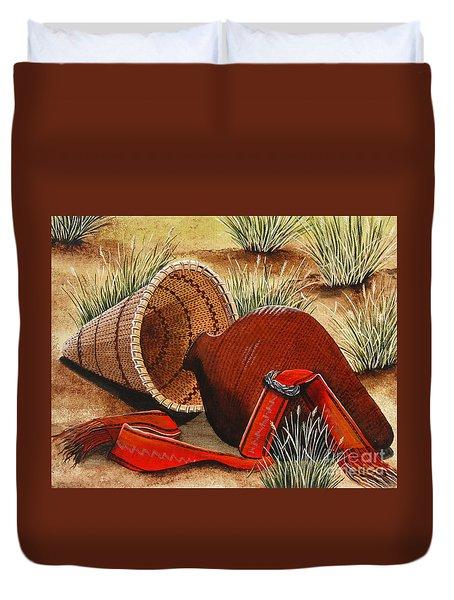 Paiute Baskets Duvet Cover by Jennifer Lake